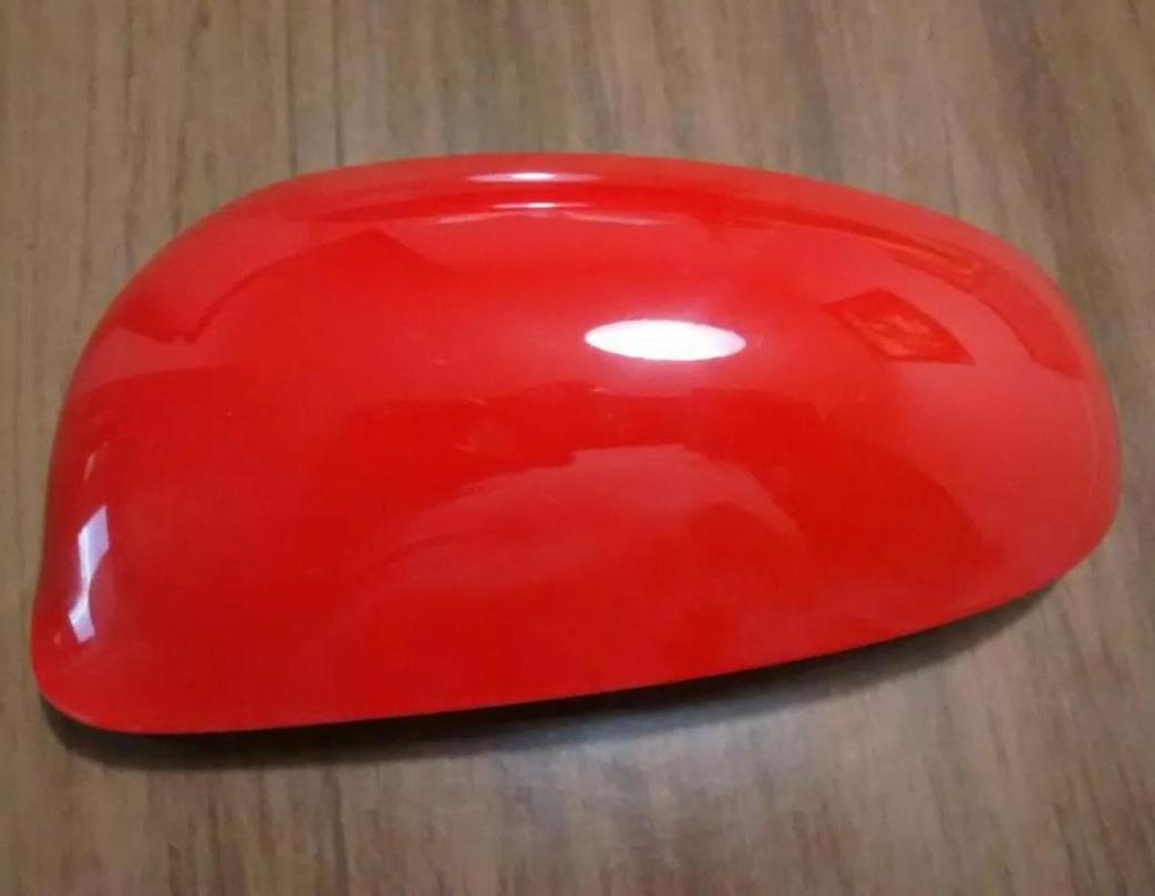 Capa lado esquerdo pintada de Vermelho Alpine do espelho retrovisor novo Fiat Palio G5 e Grand Siena 2012 2013 2014 2015 2016 2017 12 13 14 15 16 17   - Farecar Comercio