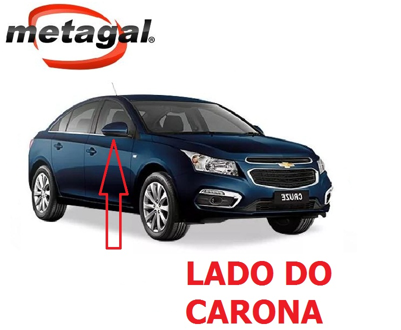 Capa Pintada na cor Azul Macaw do Espelho Retrovisor lado direito GM Cruze 2012 2013 2014 2015 2016 12 13 14 15 16  - Farecar Comercio