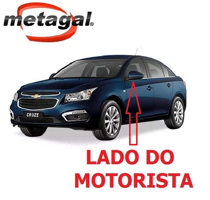 Capa Pintada na cor Azul Macaw do Espelho Retrovisor lado esquerdo GM Cruze 2012 2013 2014 2015 2016 12 13 14 15 16  - Farecar Comercio