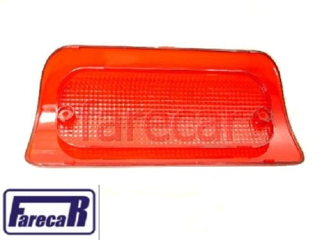 lente da lanterna de luz de freio teto cabine brake light s10 s-10  1995 a 2011 todas  - Farecar Comercio