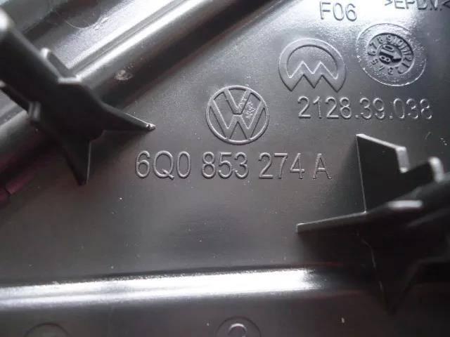 Moldura tampa de acabamento paralama lado direito retrovisor 6Q0853274A9B9 original VW Polo 2007 2008 2009 2010 2011 2012 2013 2014 2015 2016 2017   - Farecar Comercio