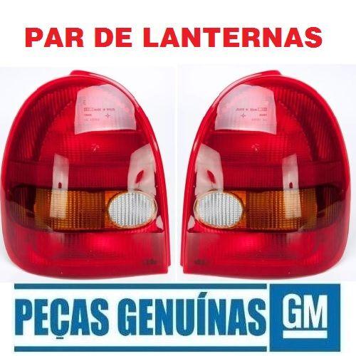 Par Lanterna Original Gm 93232513 e 93232514 Corsa Hatch 2 Portas Wind 1994 1995 1996 1997 1998 1999  - Farecar Comercio