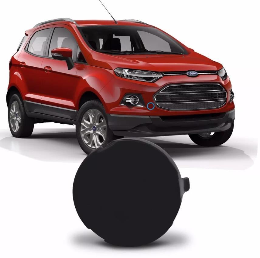 Tampa do furo do reboque do parachoque dianteiro Ford Ecosport 2013 2014 2015 2016 2017  - Farecar Comercio