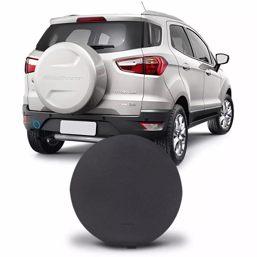 Tampa do furo do reboque do parachoque traseiro Ford Ecosport 2013 2014 2015 2016 2017  - Farecar Comercio