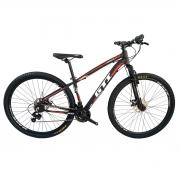 Bicicleta GTI Roma  Aro 29  Pto/Verm/Branco