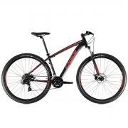 Bicicleta Oggi Hacker Sport  aro 29 21v  2021 PTO/VERM/DOURADO