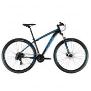 Bicicleta Oggi Hacker Sport  aro 29 21v Preto/Azul/Amarelo