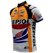 Camisa Ciclismo Repsol Honda Team Manga Curta