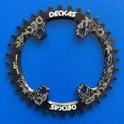 Coroa única Deckas 38 Dentes BCD 96 M 7-8-9000