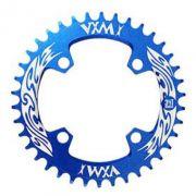 Coroa Unica Narrow Wide Vxm Shimano Bcd 96  34T Azul