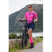 Macaquinho Ciclismo Ciclopp - Manga Curta - Essential Rosa