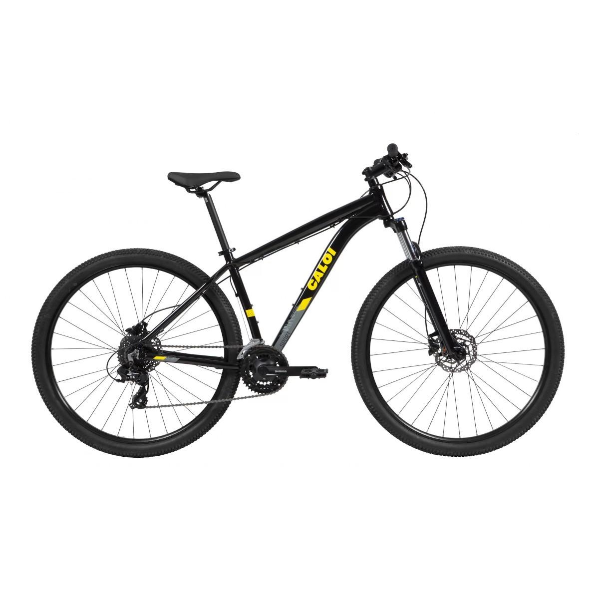 Bicicleta Caloi  Explorer Sport 2021 - Hidraulico  Pto/Amarelo