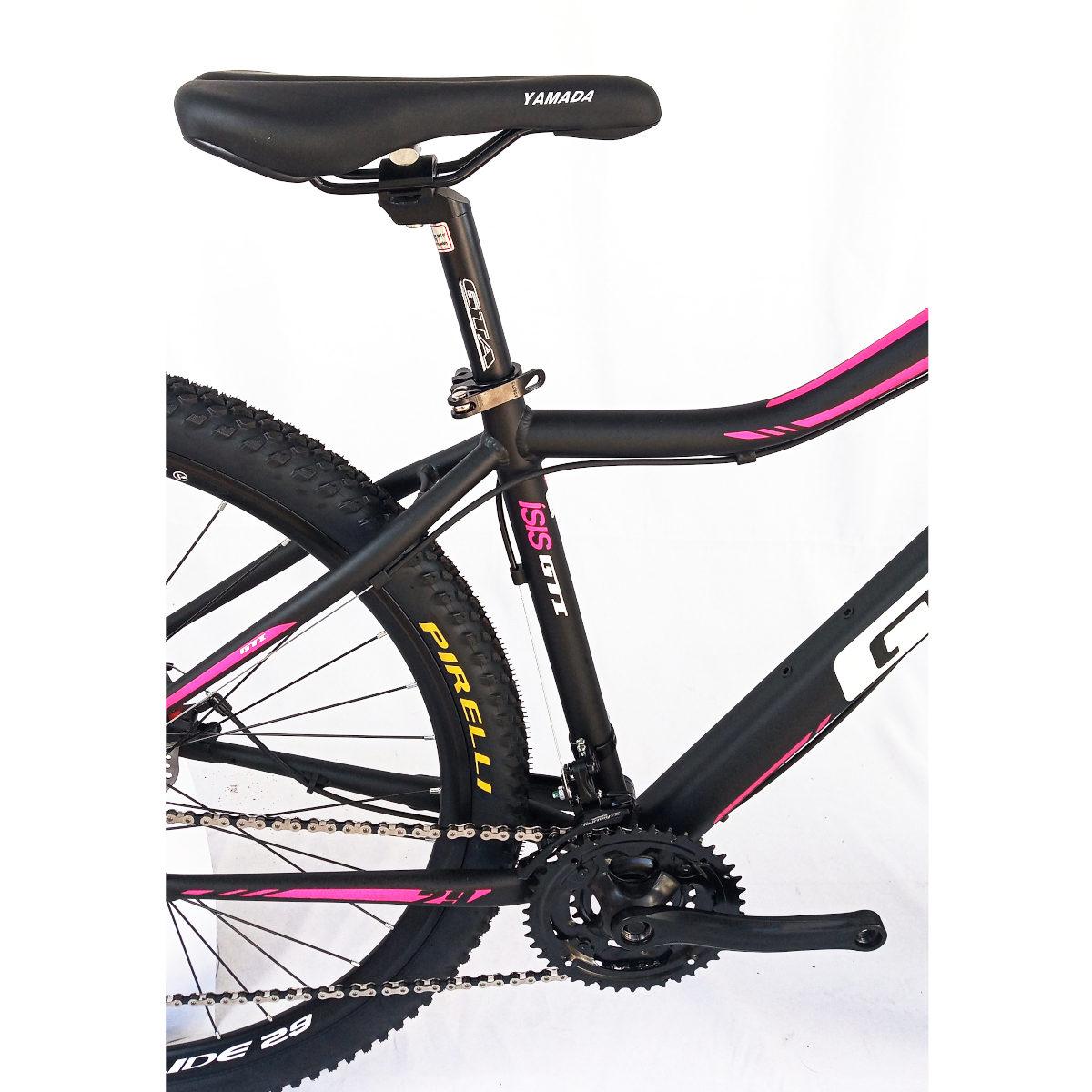 Bicicleta GTI Isis Aro 29 Feminina  Pto/Rosa