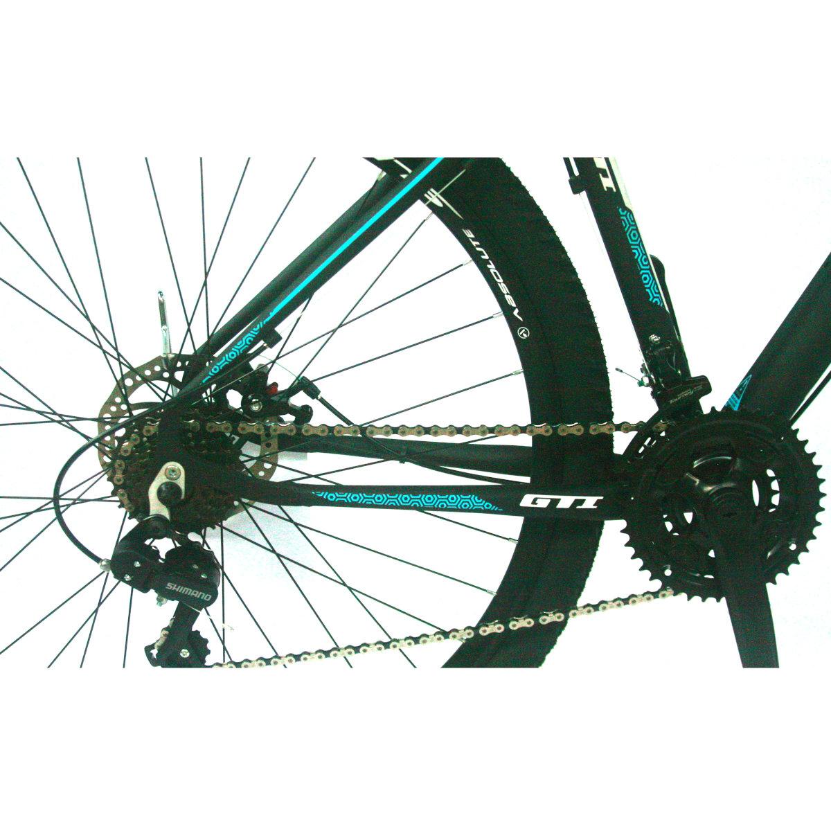 Bicicleta GTI Roma  Aro 29  PTO/AZUL