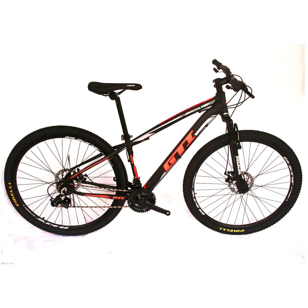 Bicicleta GTI Roma  Aro 29  PTO/BCO/LARANJA