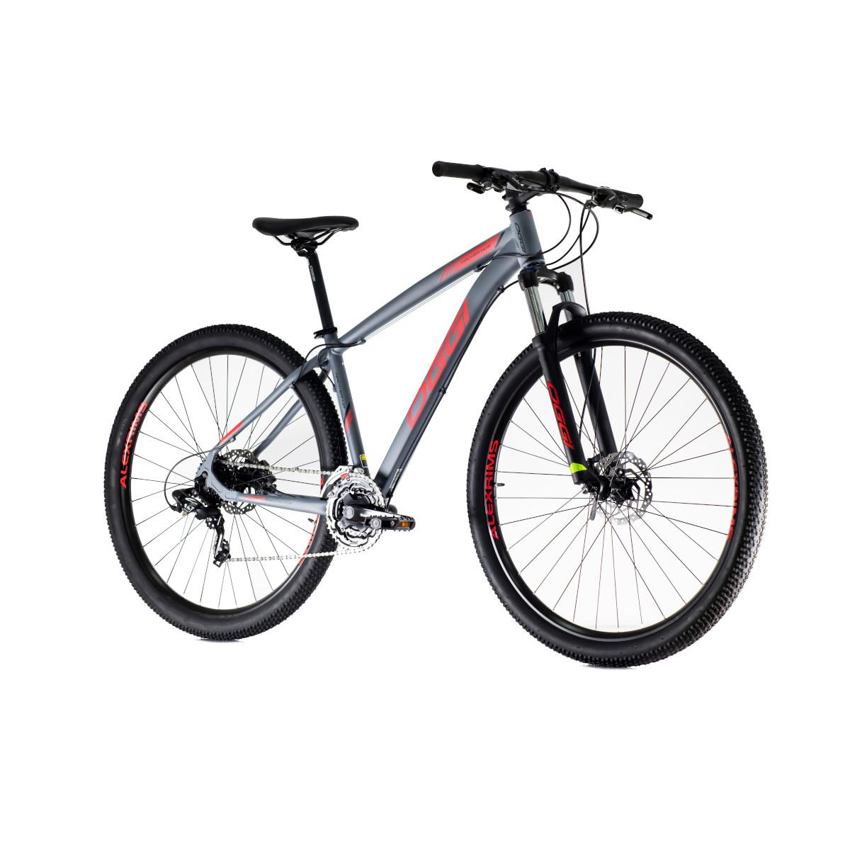 Bicicleta Oggi Hacker HDS aro 29 24v Hidraulico Cinza/Verm