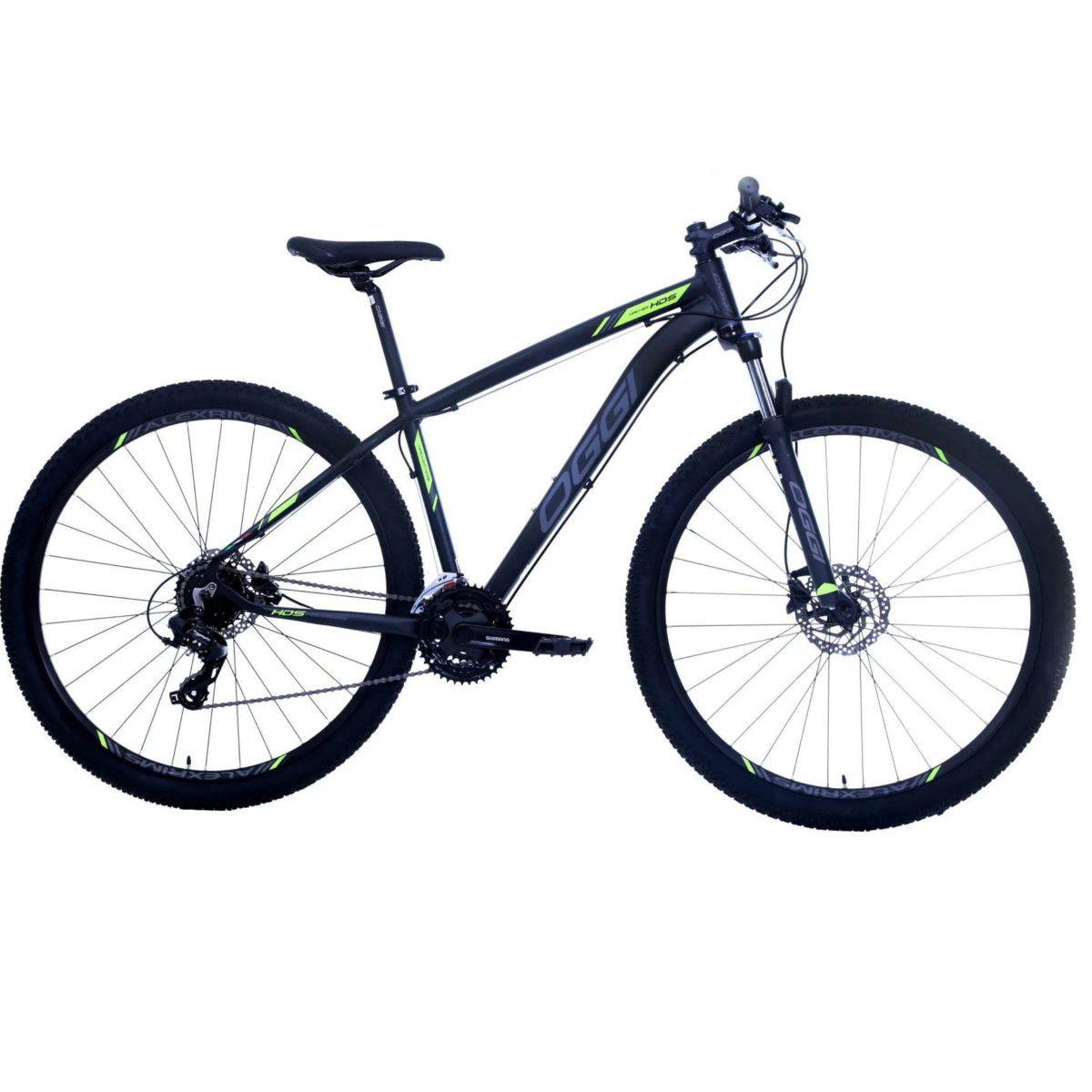 Bicicleta Oggi Hacker HDS aro 29 24v  Hidraulico Verde.