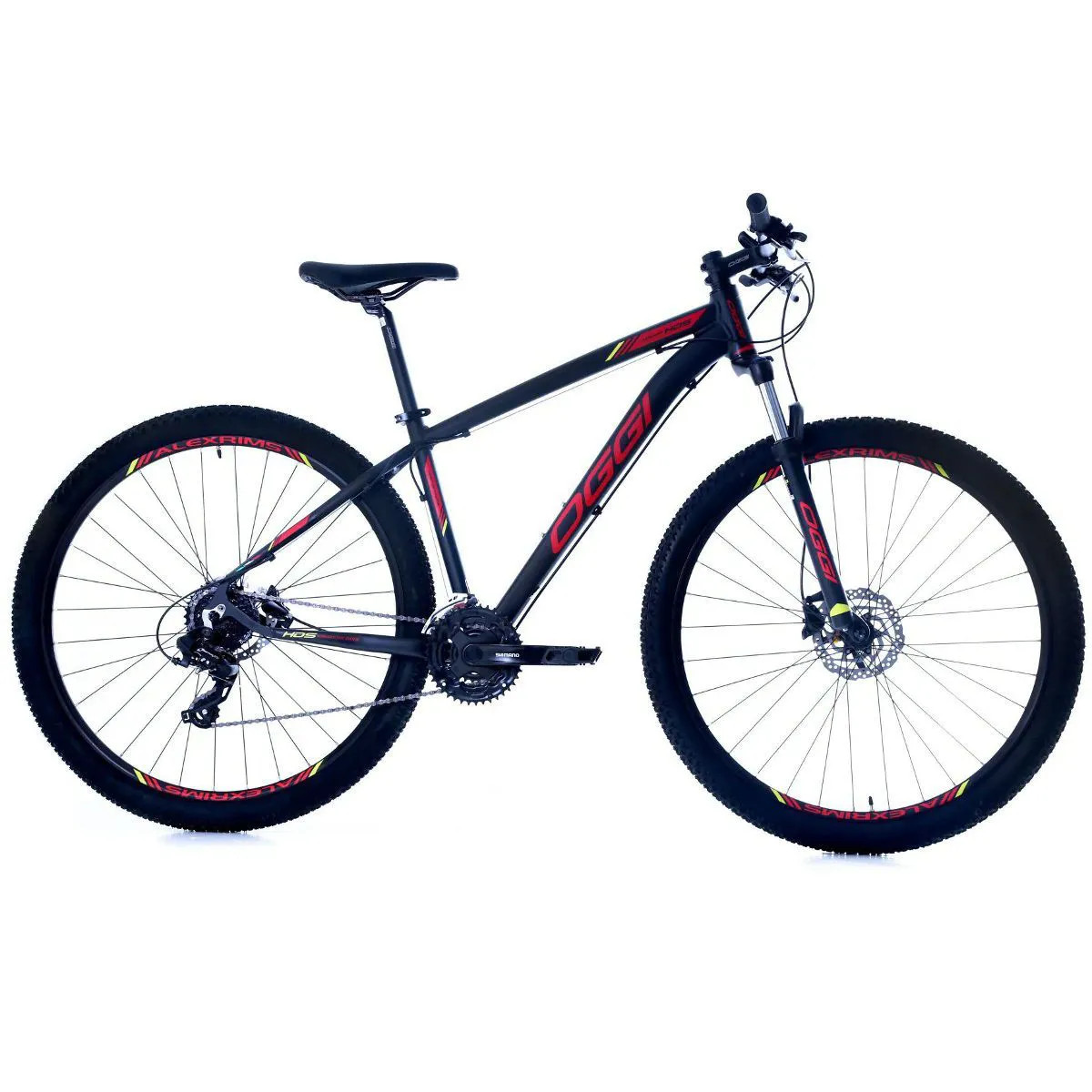 Bicicleta Oggi Hacker HDS aro 29 24v  Hidraulico Verm/Amarelo
