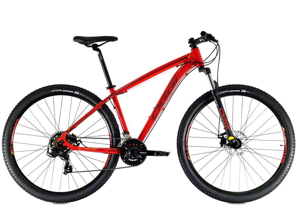 Bicicleta Oggi Hacker Sport aro 29 21v 2021 VERMELHO/VINHO