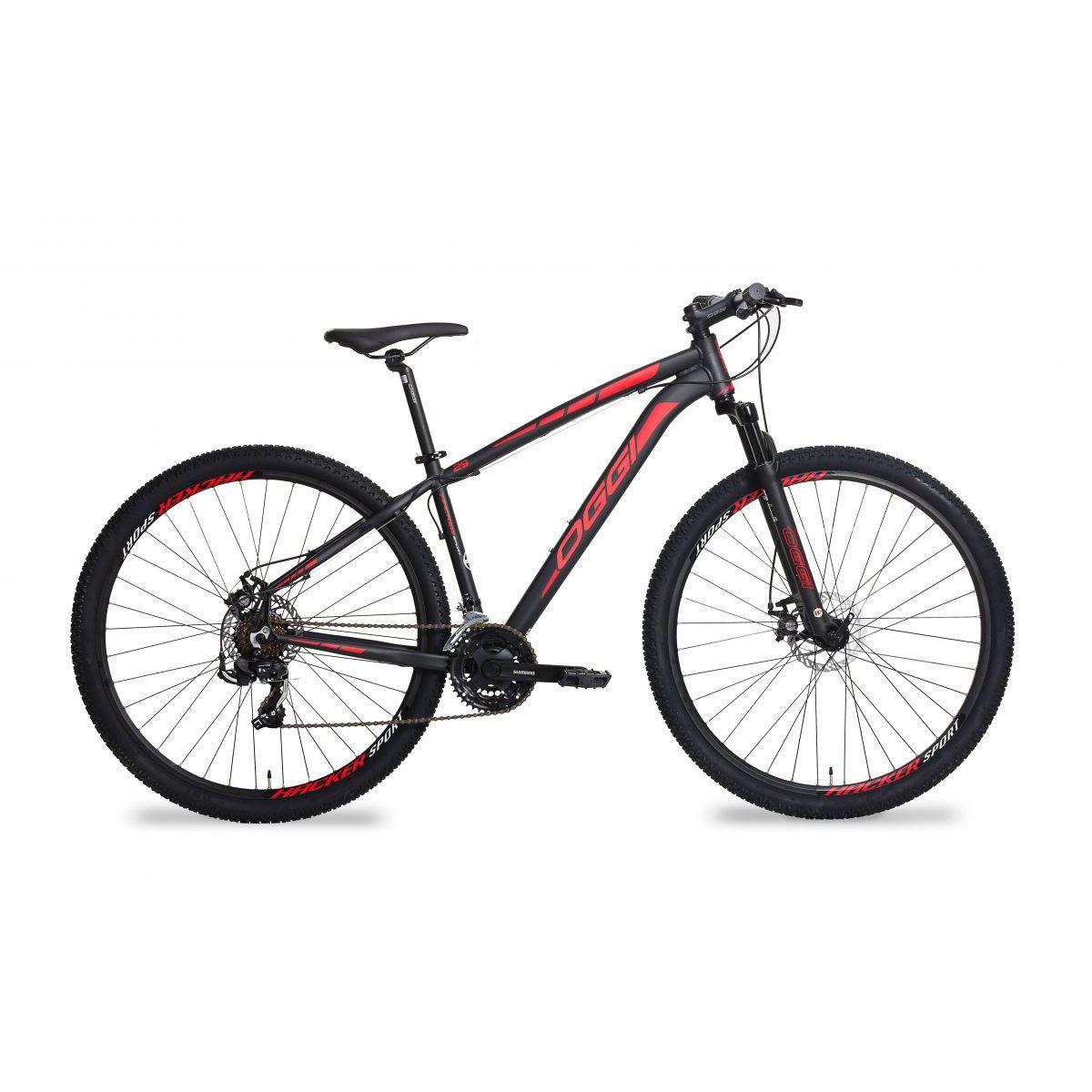 Bicicleta Oggi Hacker Sport  aro 29 21v Preto/Verm.