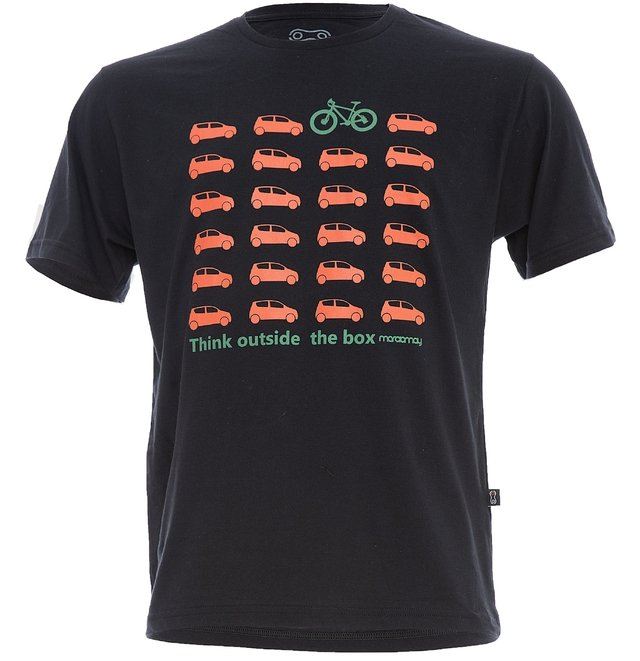 Camiseta Casual Márcio May Carro X Bike - Think Outside The Box