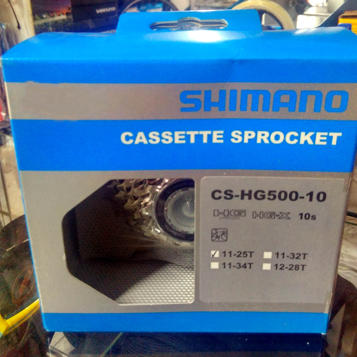 Cassete Speed Shimano Tiagra Cs-Hg500 10v 11-25t Hg-X