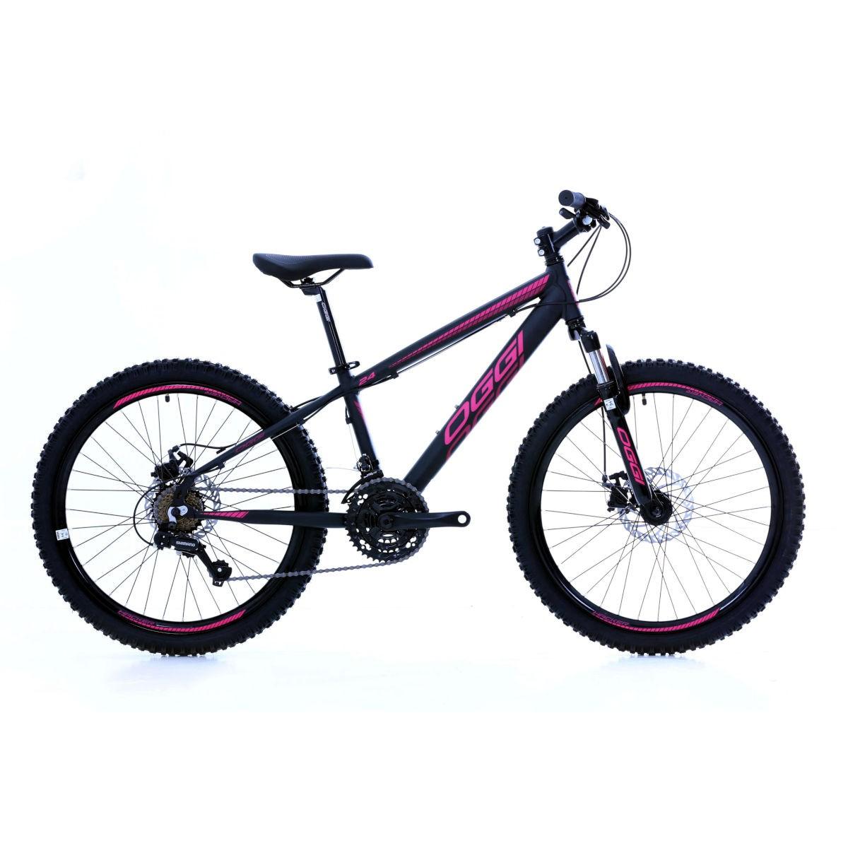 Bicicleta Oggi Hacker aro 24 21v  Preto/Rosa