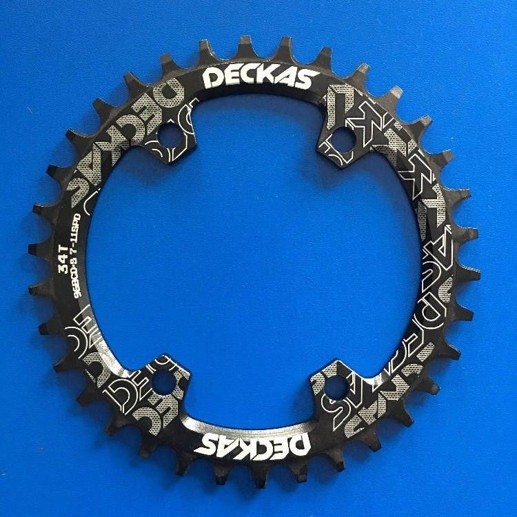 Coroa única Deckas 34 Dentes BCD 96 M 7-8-9000