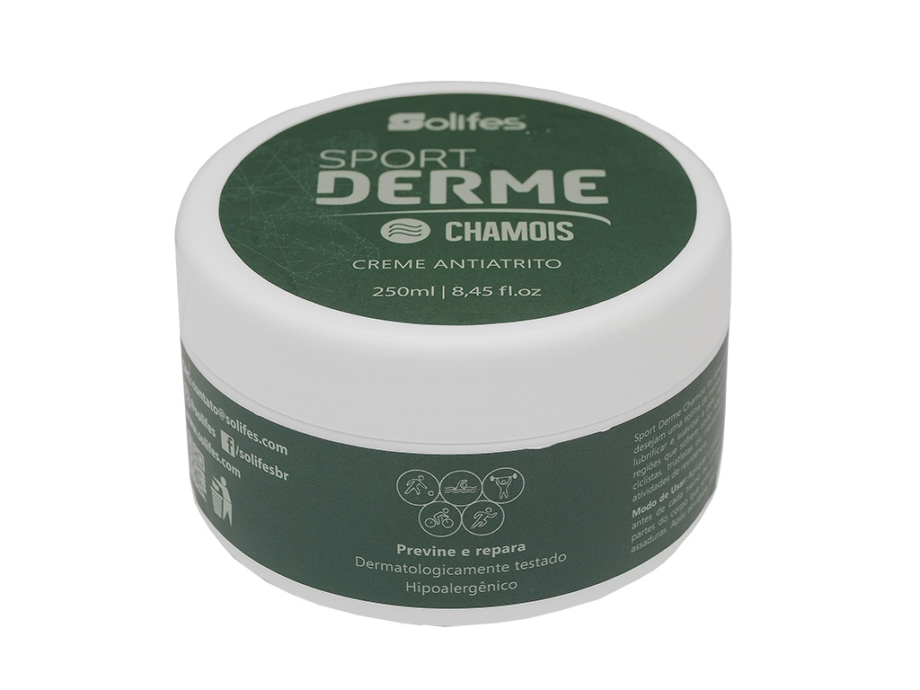 Creme Antiatrito Solifes Sport Derme Chamois - Pote250ml