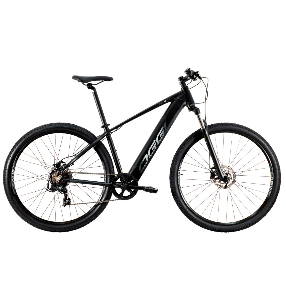 E-Bike Big Wheel 8.0 2021 Pedal Assistido Preto/Cinza