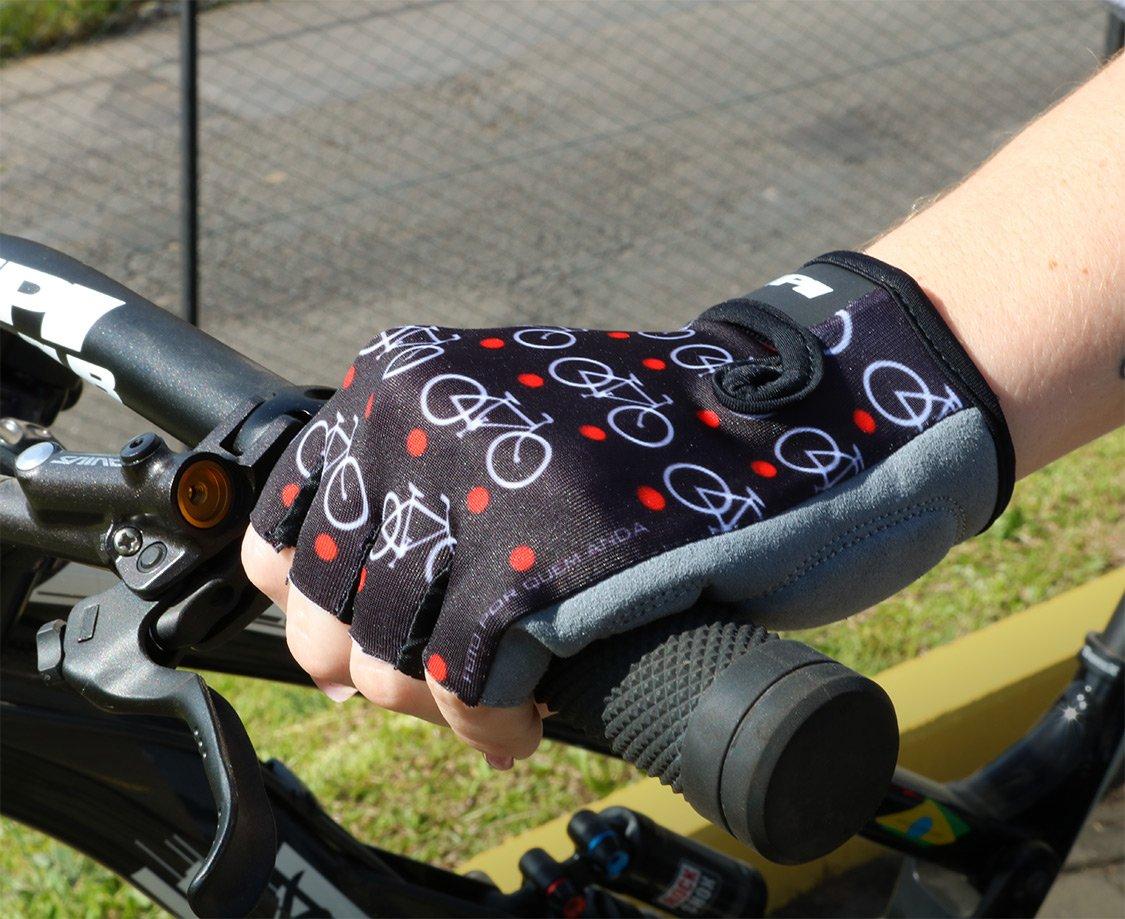 Luva Hupi Eco - Dedo Curto - Love Bike Preto