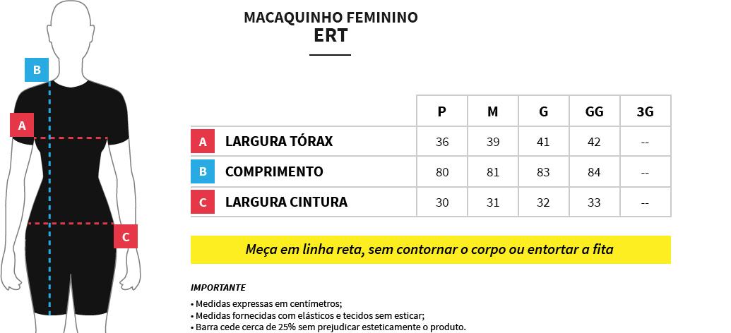 Macaquinho Feminino de Ciclismo Ert Elite Rosa