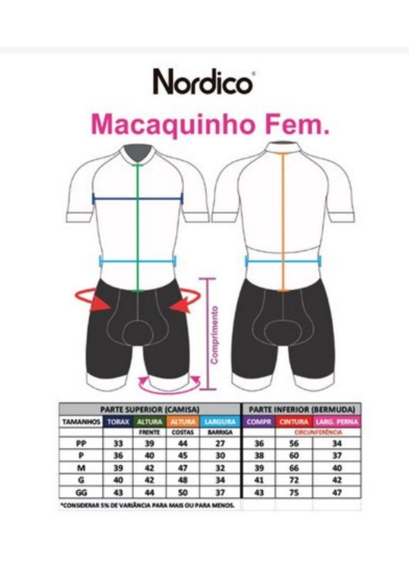 Macaquinho Feminino Nórdico / Sem Manga - Tie Dye