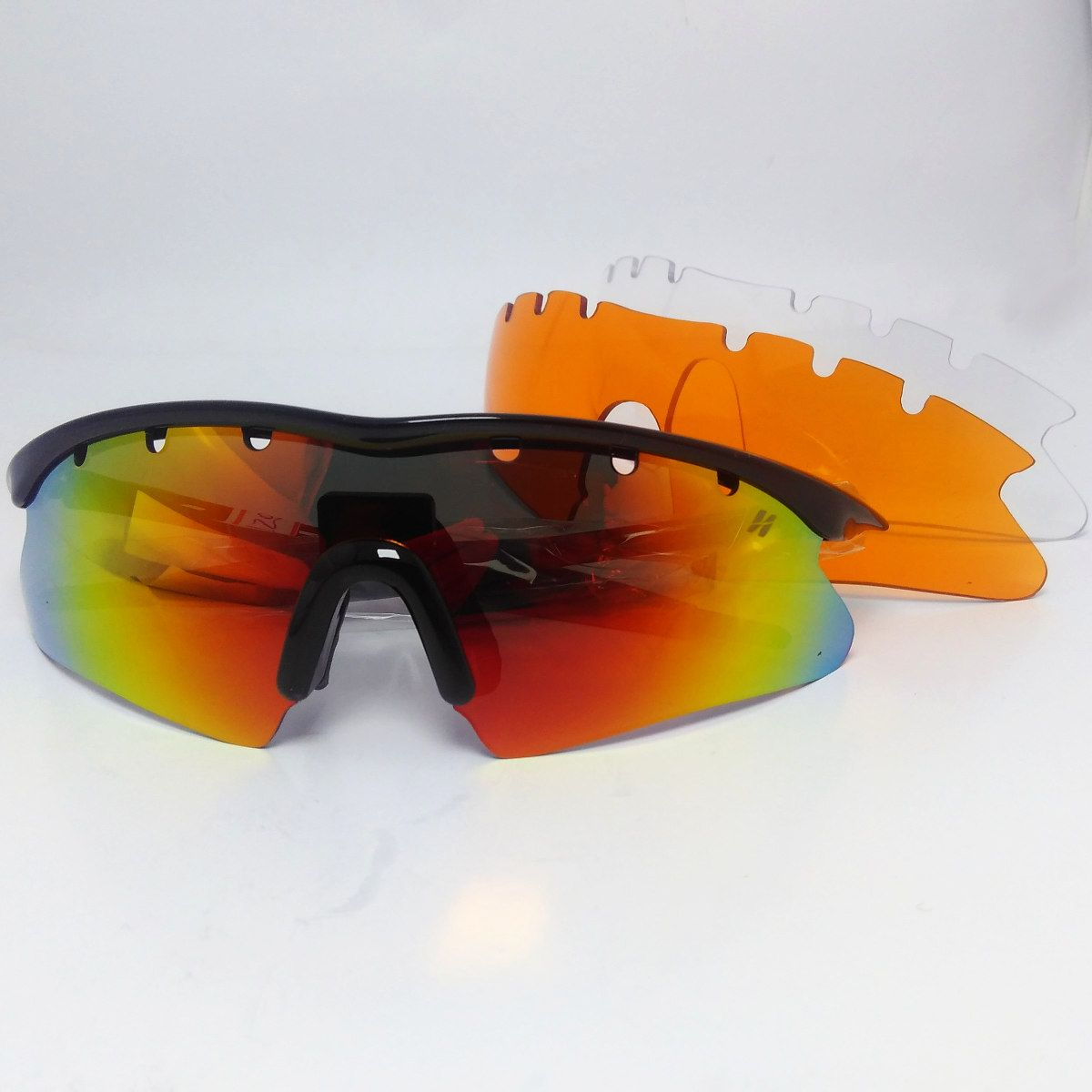 Óculos Ciclismo High One Fusion  3 Lentes + Case Preto