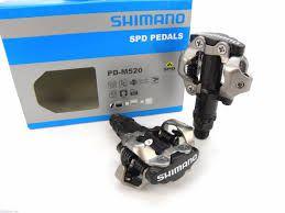 Pedal MTB Shimano M-520 spd Clip Com Tacos