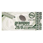 Grampos Galvanizados ACC 26/6 Caixa com 5000 unidades