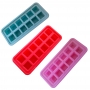 Forma De Gelo Silicone Flexível Dadinhos 12 Cubos Colorido