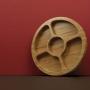 Gamela Petisqueira 5 Divisórias Bamboo