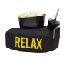 Kit Almofada Relax Cinema Porta Pipoca e Refrigerante 3Pç