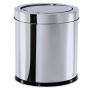Lixeira Inox c/ Tampa Basculante Brinox 5,4 Litros Cesto De Lixo