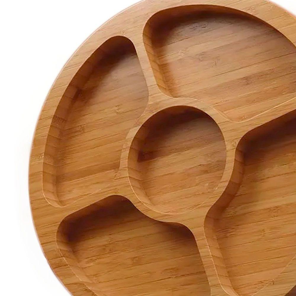 Gamela Petisqueira 5 Divisórias Bambu