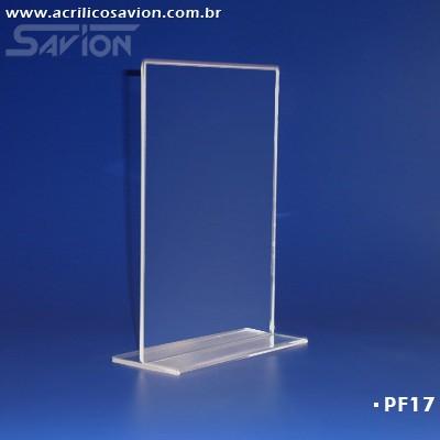 PF17-Porta Folheto de mesa 22x30 cm A4 Dupla Face  - Savion Acrilicos