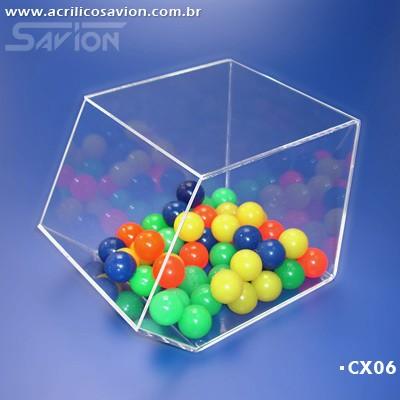 CX06-Caixa Baleiro em Acrilico Kids 1 15x20x15 cm
