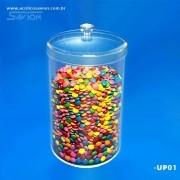 UP01-Pote Redondo com tampa 18 Cm Ø Altura 26 Cm