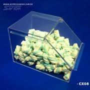 CX08-Baleiro com tampa de correr