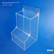 EP04-Caixa Em Acrilico Para Epi 2 Tampas 18x18x32 Cm