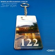 CH01-50 peças Chaveiros Numerados em Acrilico para Hotel e Pousada 5x10 cm