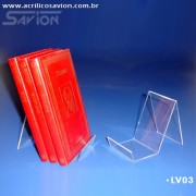 LV03-Display de mesa para Livros 8x12 cm Longo