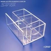 CF07-Porta Sache e Guardanapo de acrilico 13x8x6 cm