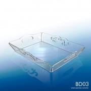 BD03-Bandeja em acrilico transparente